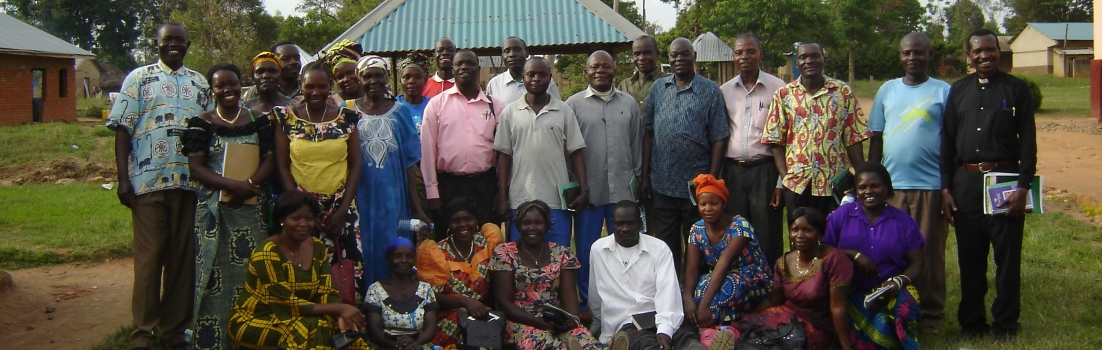 Photo of the church leaders attending a seminar on palliative care in the Diocese of ARU in Democratic Republic of Congo