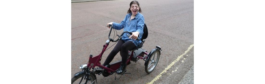 Eleonore on a bike