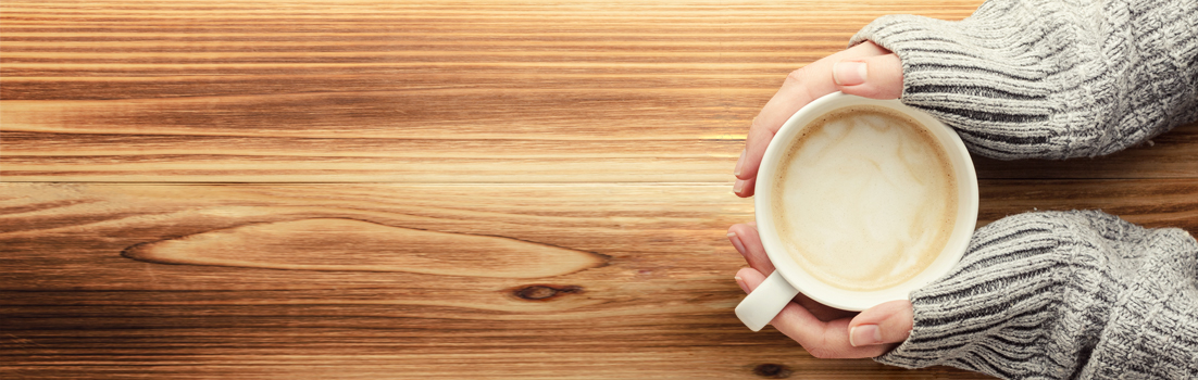 Coffee cup on a table image