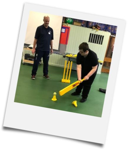 Indoor Cricket Training - Photo used with permission from Belvoir Cricket & Countryside Trust